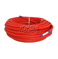 PERT pipe in red or blue conduit sleeve